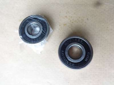 Set of 2 Top Quality German made 6201-RSR 12x32x10 Sealed Ball Bearing 6201RS