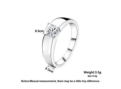 ORSA JEWELS 2017 Popular Silver Color Ring Model with Clear AAA -Free Shipping