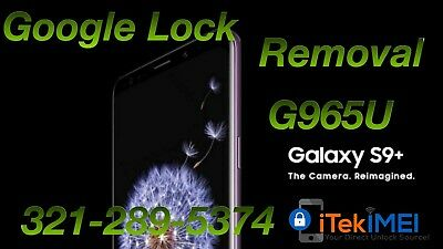 Samsung Galaxy S9 Plus G965U Google Account Removal/Bypass, Reset FRP ☆Remotely☆