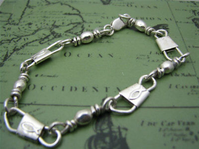 Emmaus Sterling Silver Fishers Of Men Bracelet with Ichthys (Fish)