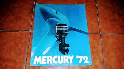 Brochure Catalogo Advertisement Mercury Motore Motori Barca Yacht Nautica 1972
