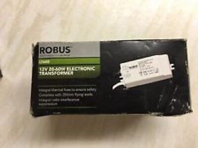 Robus 12v 220-240V Input 20-60W Output Low Voltage Lighting Transformer White