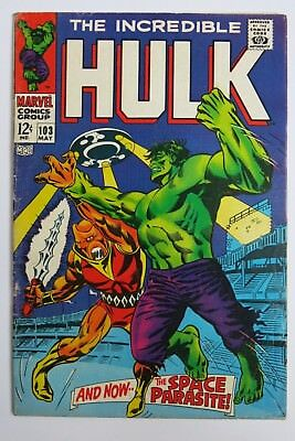 The Incredible Hulk #103 - Cents Issue - Marvel Comics