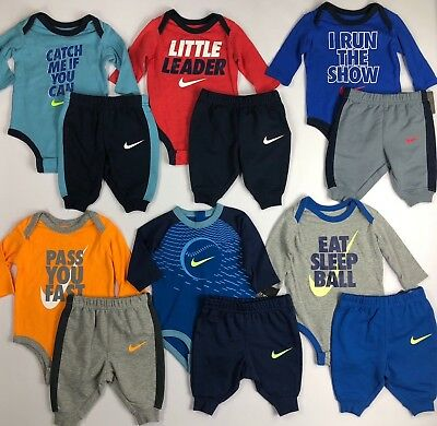 Infant Baby Boy's Nike Long Sleeve Shirt and Pants Set Outfit