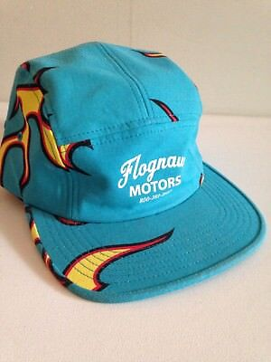 GOLF WANG FLOGNAW Motors 5 Panel Cap Turquoise with Flames -  94.00 ... 54a88c2f039