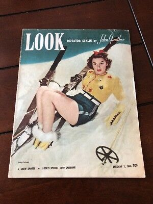 Vintage Look Magazine January 2, 1940 Dictator Stalin By John Gunther Snow Sport