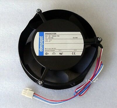 EbmPapst 172mm x 51mm Fan 24V DC 312 CFM 3 Wire DV6424/2-539 Ebm-Papst Germany