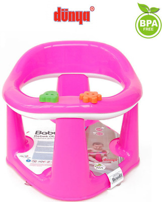 Baby Toddler Kids Bathing Bath Food Dining Play 3 in 1 Support Seat Chair Pink