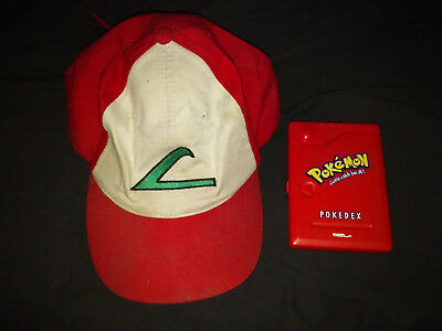 7be031c2d2d VINTAGE 90 S OFFICIAL Nintendo Ash Ketchum hat and Tiger Pokedex ...