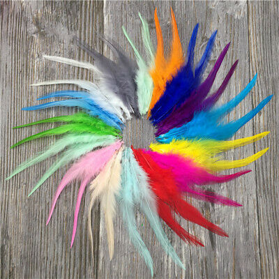 Details about  Beautiful 50pcs/100pcs rooster tail feathers 10-15cm / 4-6inch