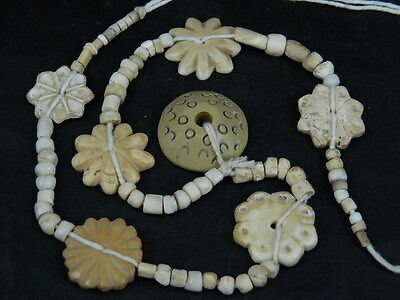 Ancient Shell/Bone Beads Strand Roman 200 BC  #BE5118