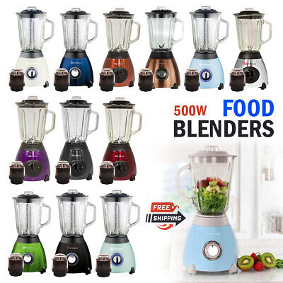Stylish Electric Multi Food Blender Mixer Grinder Smoothie Maker Heavy Duty 500W