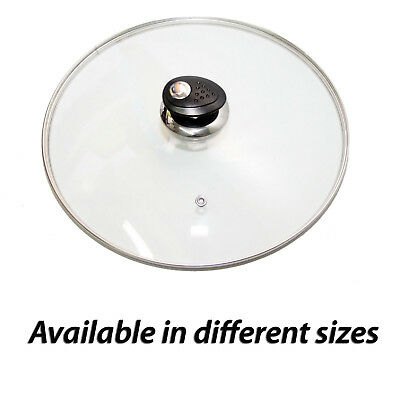 Tempered Replacement Glass Lid Vented Spare Saucepan Casserole Frying Pan