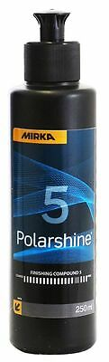 Mirka Polarshine 5 Mittelfeine Polishing 250 ML to Refresher v. Mats Surface