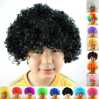 Hair Women Fancy Curly Mens/ladies Party Wig Disco Costume Adult 70s Afro Clown