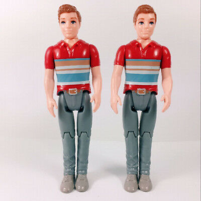 """Lot 2x Fisher Price Loving Family Dollhouse Dad Father 5"""" Action Figure kid toy"""