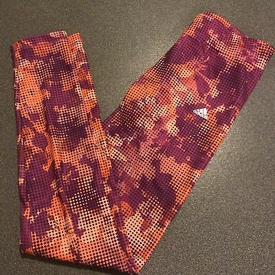 Girls Adidas Leggings Age 14-15 170 cm Pink Orange Purple New without Tags