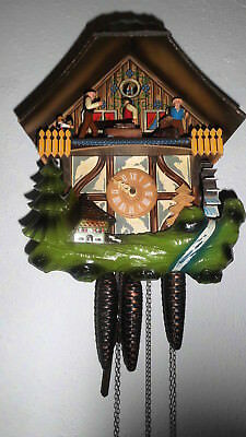 vintage cuckoo clock,musical animated black forest  wall clock regula animated