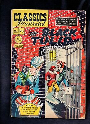 Classics Illustrated #73 Fair (O)   Hrn75 (The Black Tulip) Alexandre Dumas