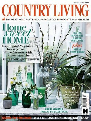 Country Living Magazine February 2/2018 Home Sweet Home