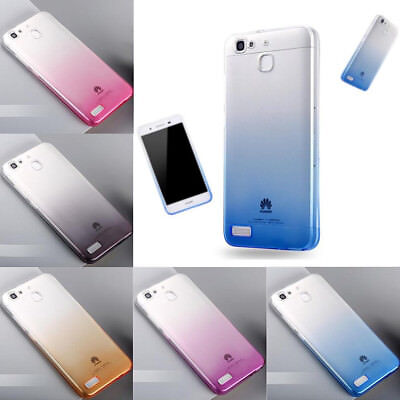 For Huawei GR3 5 Honor 4C 5A Y6ii Ultra Thin Gradient Clear Gel Skin Case cover