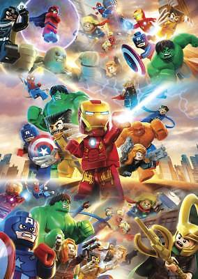 Lego Marvel Super Heroes Posters Kids Boys Girls Wall Art Poster | A4 or A3 Size
