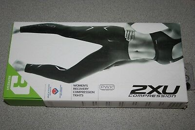 2XU Compression Tights Women's LARGE BLACK/BLACK LOGO WA1960b NEW