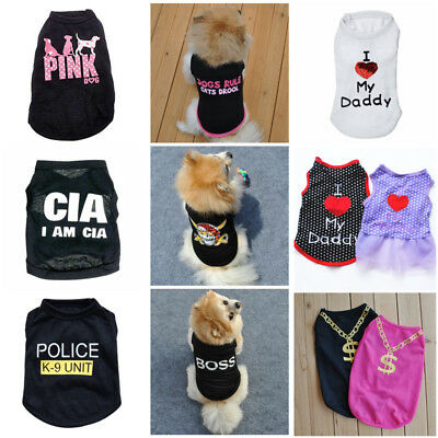 Luxury Various Pet Puppy Small Dog Cat New Party shirt Apparel Clothes