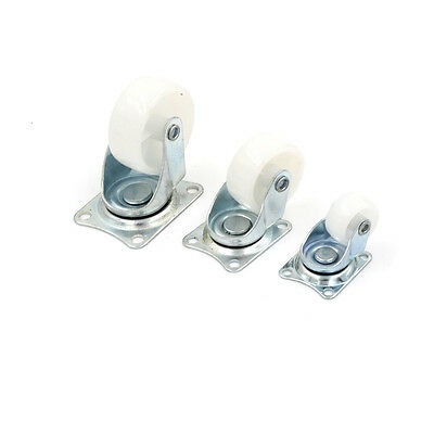 """4PCS 1""""/1.5"""" Furniture Wheel Rectangle Top Plate Fixed Swivel Caster Set ZY"""