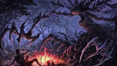 ccg dark forest playmat suitable for magic the gathering, yugioh, etc