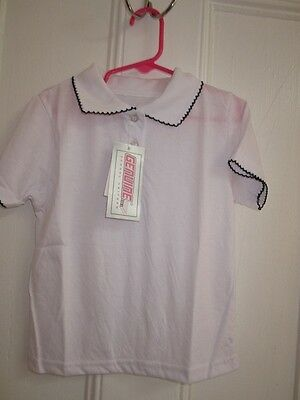 Girls/Toddler's School Uniform White Polo Shirt - REDUCED!  - FREE SHIPPING