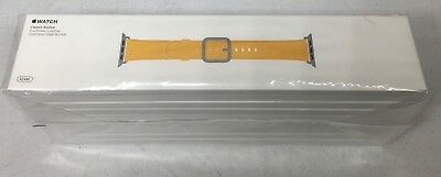 Genuine Apple Watch Leather Band w/ Classic Buckle 42mm -Sunflower MPX62AM/A NEW