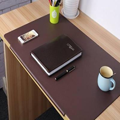 """❤ Desk Mat Pads Laptop Keyboard & Mouse Pad Large Size 27.5"""" X 17.7"""" Brown . Non"""