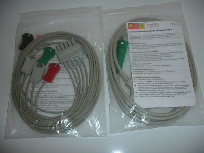 SCHILLER 2.410316 5 LEAD SET and 2.410330 5 LEAD TRUNK CABLE, BRAND NEW ORIGINAL