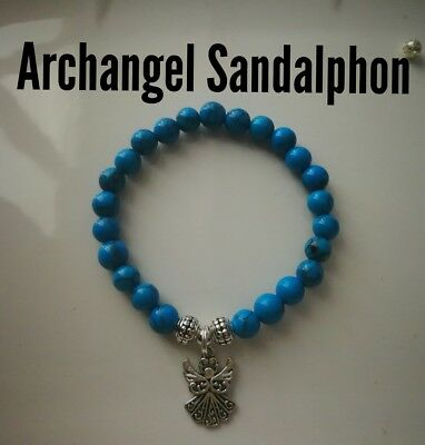 Code 305 Archangel Sandalphon turquoise Infused n charged bracelet Shaman stone