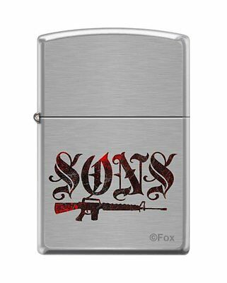 Zippo 7493, Sons of Anarchy, Brushed Chrome Finish Lighter, Full Size