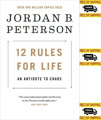 12 Rules for Life An Antidote to Chaos by Jordan B Peterson Hardcover Ethics NEW