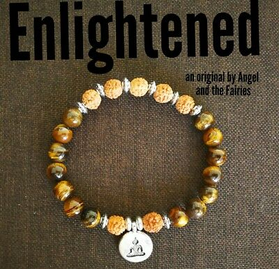 Code 408 Enlightened Vajra Bodhi tiger eye Infused Bracelet Spiritual Reiki Yoga