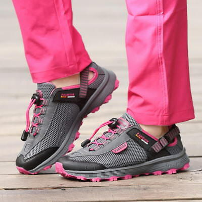 Womens Mesh Breathable Hiking Boots Sports Climbing Trekking Shoes Sneakers