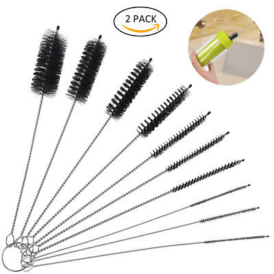 10 Pieces Nylon Cleaning Brush Set Stainless Steel for Kitchen Kettle Bottles