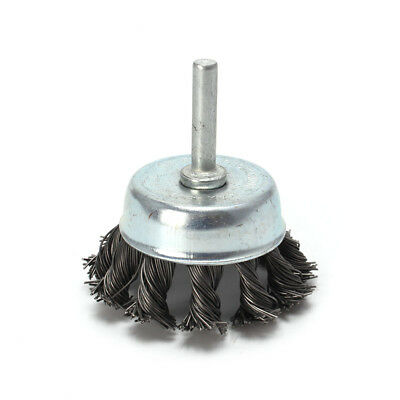 """2'' Metal Wire Wheel Cup Brush Crimped with 1/4"""" Shank For Die Grinder Drill"""