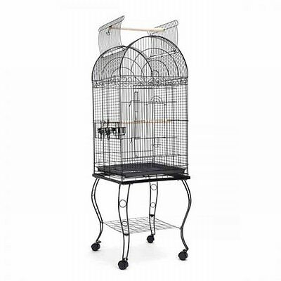 NEW 174cm Lockable Top Stand-alone Pet Parrot Aviary Budgie Perch Bird Cage