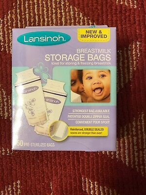 LANSINOH BREASTMILK FREEZER STORAGE BAGS x50 #20450