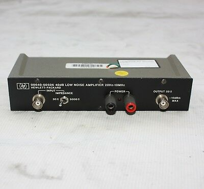 Hewlett Packard HP Agilent 08640-60506 40db Low Noise Amplifier 20hz - 10mhz