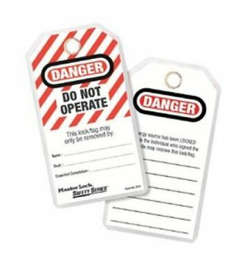 Master Lock Lockout Tagout Tags, Do Not Operate Safety Tag, 497A