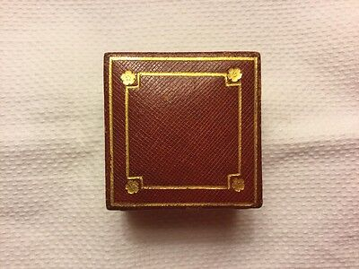 ANTIQUE VINTAGE CARTIER LEATHER RING/EARRING/CUFFLINK JEWELLERY BOX CASE 1920s