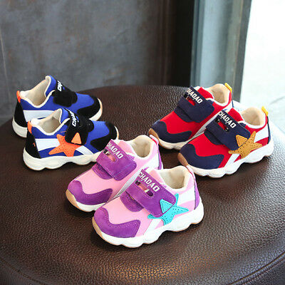 Toddler Kids Sport Running Baby Shoes Boys Girls Star Mesh Shoes Sneakers