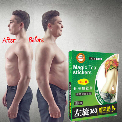 Useful Women Men Slimming Sticker Patch Weight Loss Tea Sticker 10pcs