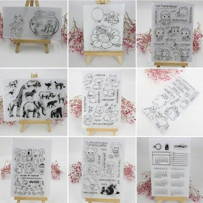Transparent Silicone Clear Stamp Cling Seal Scrapbook Embossing Album DIY Decor