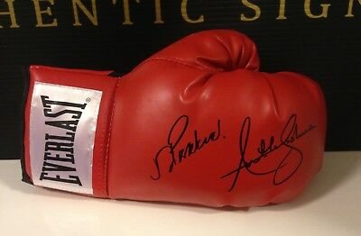 Anthony Joshua and Joseph Parker Dual Hand Signed Boxing Glove RARE COA